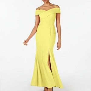 Night Way Cold Shoulder Gown Dress
